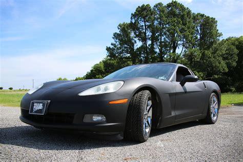 matte black color corvette color change white to matte black car wrap city
