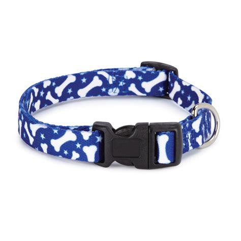 Blue Pattern Dog Collar | casual canine pooch pattern dog collar blue bone baxterboo