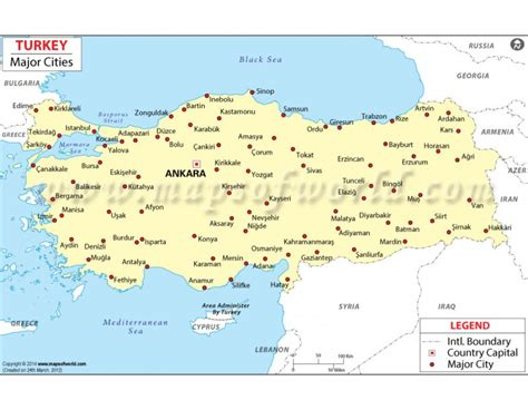 map with cities buy turkey map with cities