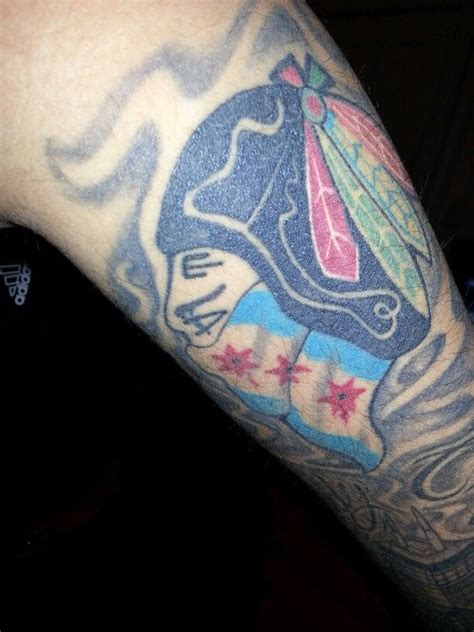 chicago blackhawks tattoo chicago blackhawks tattoos