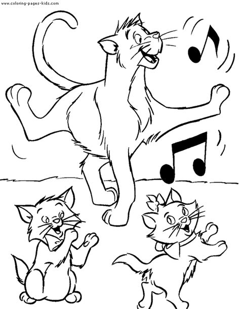 The Aristocats Coloring Pages Aristocats Coloring Pages Free Printable Disney Coloring by The Aristocats Coloring Pages