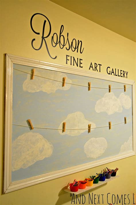 how to display kids art without making it bothersome and next comes l our playroom displaying children s art