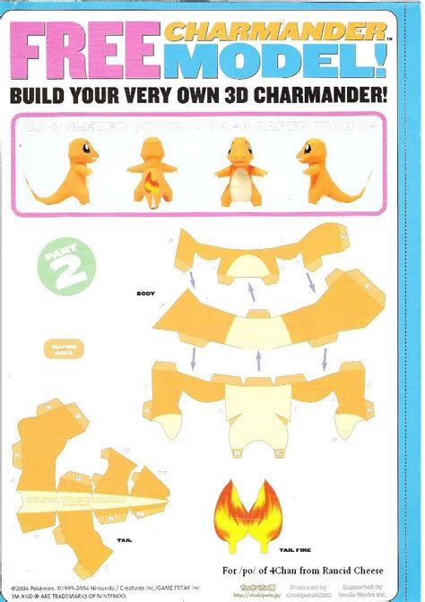 Charmander Papercraft - papercraft templates jetlogs org 187 charmander