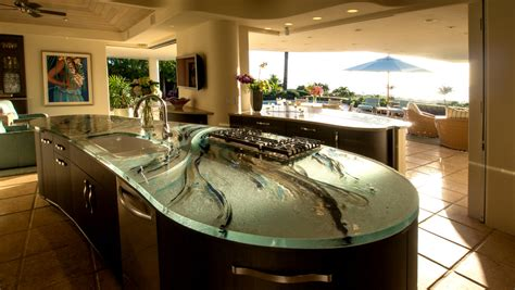 Thick Kitchen Glasses Hi Macs Countertops Reviews Contemporary Style For Kitchen