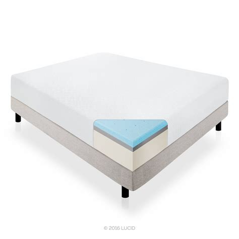 lucid bed lucid 14 inch cashmere covered memory foam mattress