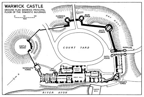 warwick castle floor plan the borough of warwick the castle and castle estate in