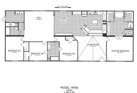 4 bedroom mobile home floor plans bedroom floor plans and mobile home on also 4 interalle com