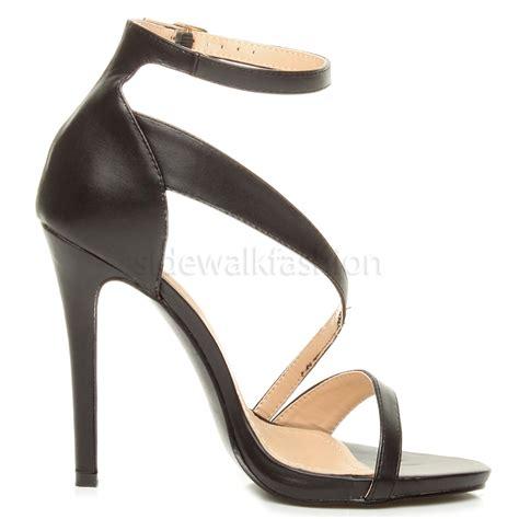 Cross High Heel Sandals womens ankle cross aysymmetric high