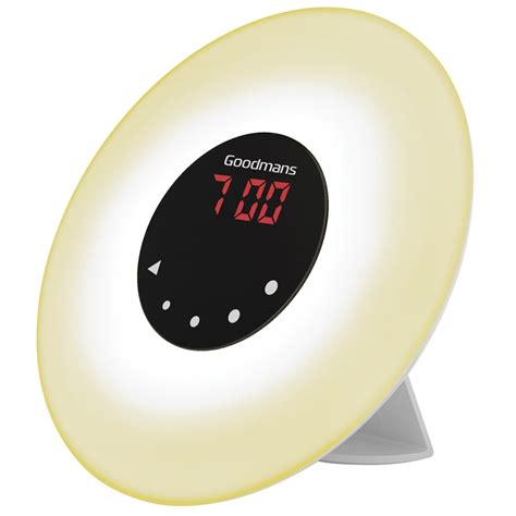 goodmans up light alarm clock alarm clocks
