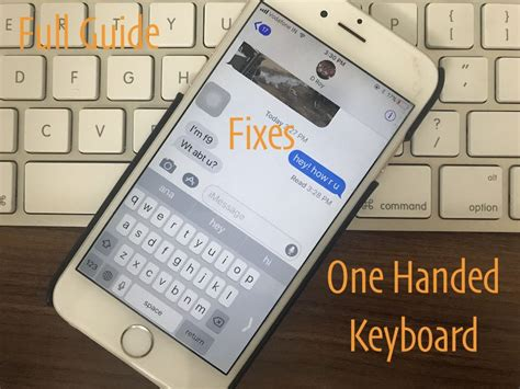 solved ios 12 one handed keyboard not working or missing on iphone