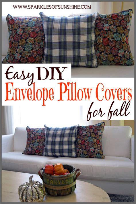 how to learn to decorate your home easy diy envelope pillow covers for fall sparkles of