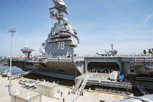 calls aircraft carrier uss gerald ford symbol of