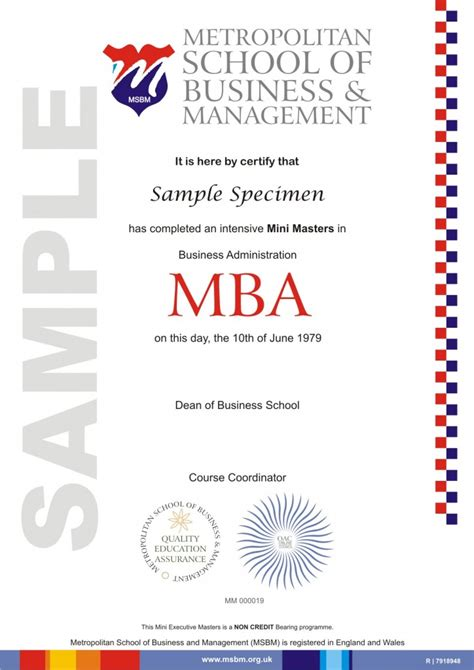 Corporate Management Minor Mba Commerce by Al Feroz International Trading Wll 187 Certifications