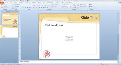 powerpoint template file top secret powerpoint template