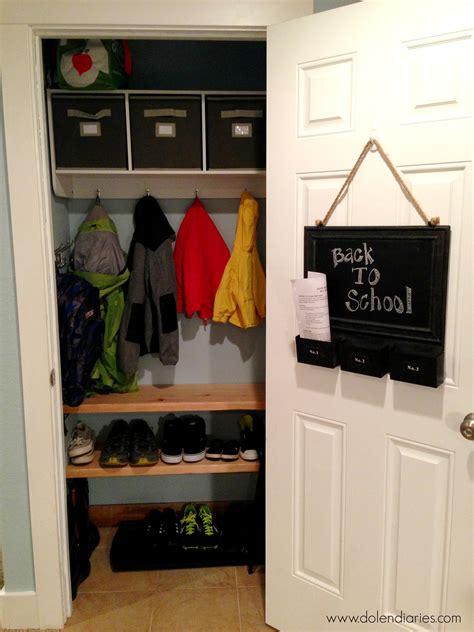 Coat Closet Design by Coat Closet Makeover Back To School Series The Benson