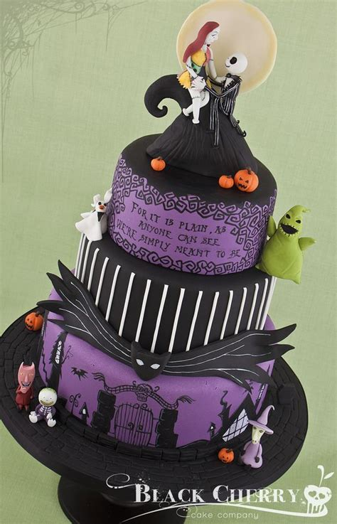 jack and sally cake toppers contemporary ideas on cake