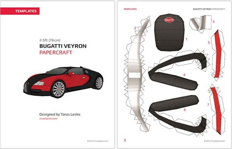 Bugatti Veyron Papercraft - bugatti veyron papercraft model paperox free papercraft
