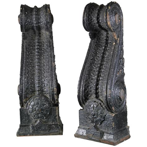 Cast Iron Corbels pair of 1910 cast iron decorative exterior corbel at 1stdibs