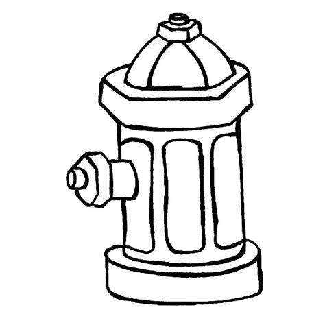 Fire Hydrant Coloring Page Fablesfromthefriends Com Hydrant Coloring Page