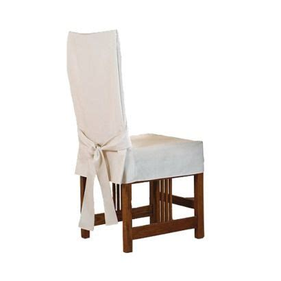 Sure fit cotton duck short dining room chair slipcover target 15 each