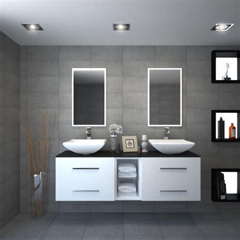 sonix 1500 glass top wall hung vanity unit inc counter top