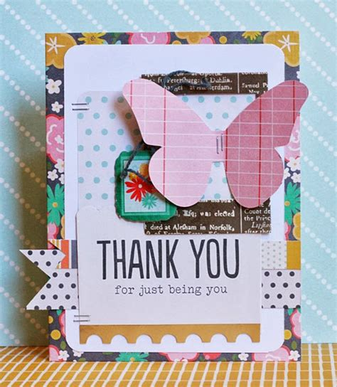 Thank You Handmade Cards - handmade thank you card from me to you pebbles inc