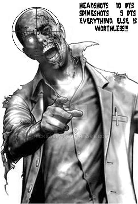 printable zombie head targets resident evil zombie target by rickbarrs on deviantart