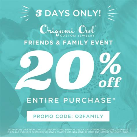 Origami Owl Coupon Code - origami owl friends and family discount code origami owl