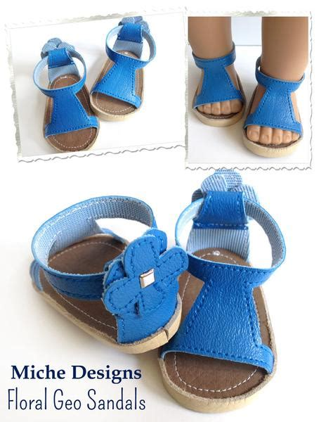 free clothes and shoes floral geo sandals 18 inch doll shoes pdf pattern