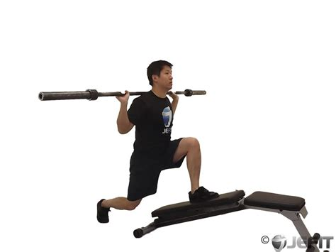 bench lunges barbell decline bench lunge exercise database jefit