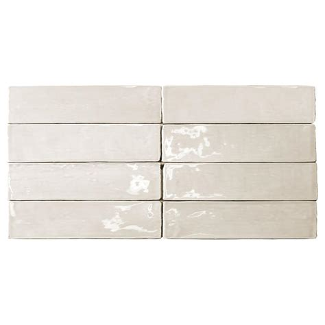 Home Depot Subway Tile by Merola Tile Park Slope Subway Beveled Glossy White 3 In X