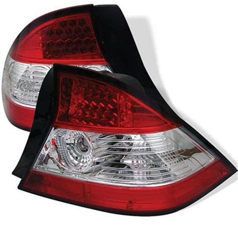 2004 honda civic tail light honda civic coupe 2004 2005 red and clear led tail lights