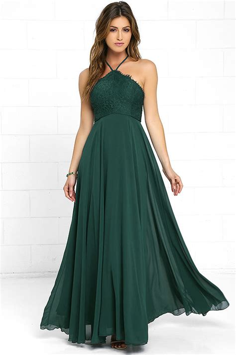 Ll Halter Veve Green stunning green dress maxi dress halter dress lace dress 84 00