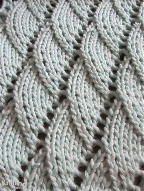 knitting pattern overlapping waves knitting pattern time to knit