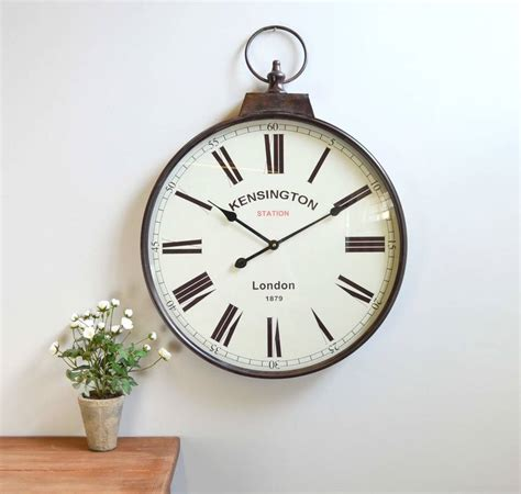 wall watch antique brass pocket watch wall clock by the orchard
