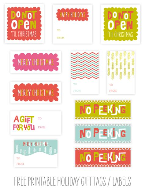 printable gift tags for holidays free printable christmas gift tags martha stewart