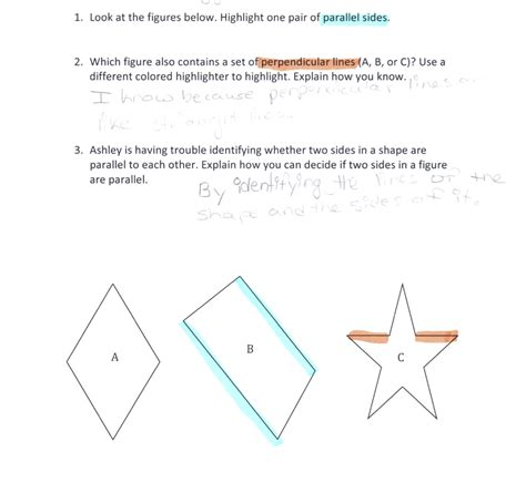 how many four sided figures appear in the diagram below parallel and perpendicular sides