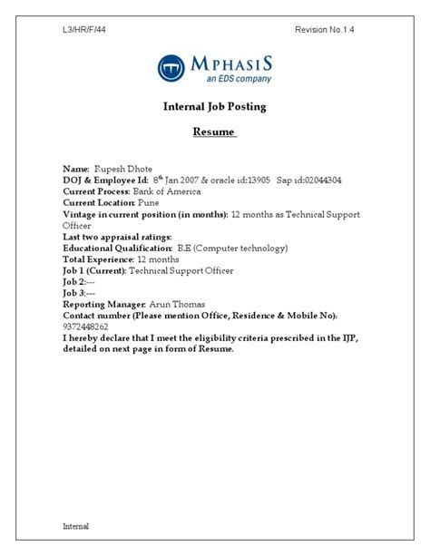 Posting Resume by Posting Resume Format 3