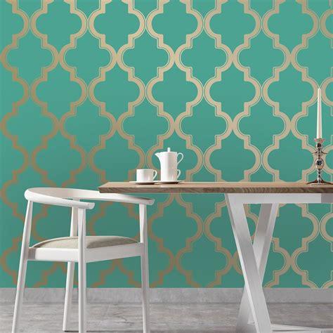 adhesive removable wallpaper marrakesh self adhesive wallpaper in honey jade design by