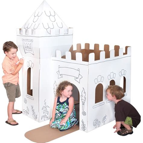 add a cool cardboard playhouse to your kid s catch