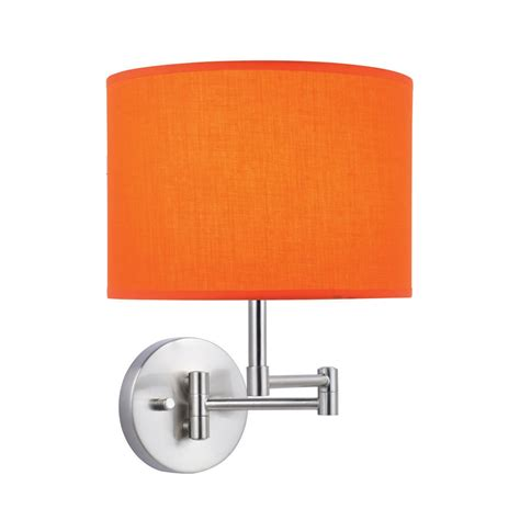 l shades for wall ls lite source kasen 1 light wall l with orange fabric