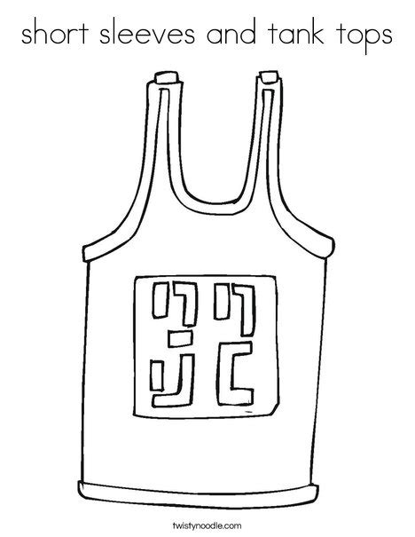 tank top coloring page short sleeves and tank tops coloring page twisty noodle