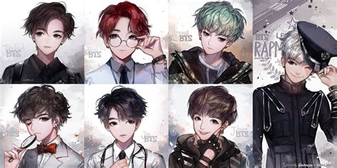 bts anime pictures we are bulletproof by kawacy on deviantart