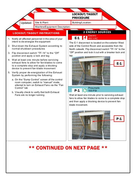 loto program template ben version 2 page loto procedure template