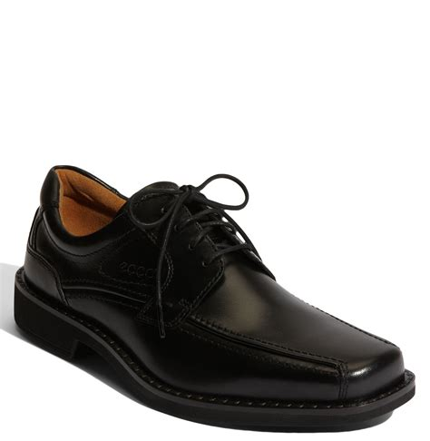 ecco shoes oxford ecco seattle bike toe oxford in black for lyst