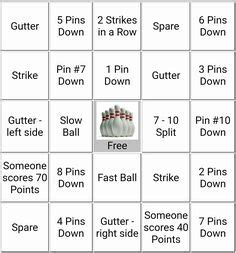 bowling bingo card template bowling pin birthday schnittmuster