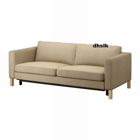 Ikea Karlstad Sofa Bed Slipcover Sofabed Cover Lindo Beige Slipcovers For Sofas Uk