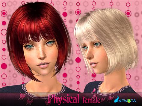 the sims 2 downloads fringe hairstyles newsea sims2 hair j070f physical