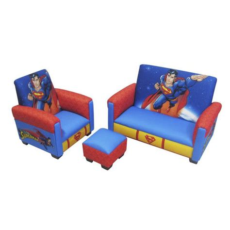 batman sofa set superman toddler 3 piece sofa chair ottoman furniture
