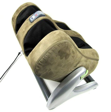 Human Touch Ottoman Human Touch Ijoy Ottoman 3 0 Calf Foot Robotic Massager Brown Faux Suede Ebay